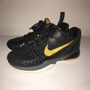 Nike Shoes - Nike Zoom Kobe 6 Black and Yellow 804959f02e74